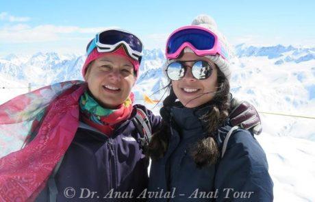 עיירת הסקי אנדרמאט Andermatt שווייץ: על גג האלפים השווייצריים על פסגת Gemsstock הגמסשטוק 2961 מטר